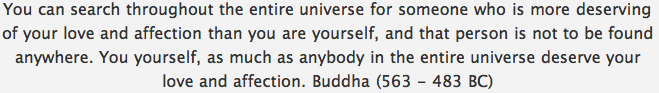 Quote • Love & Affection — Buddha