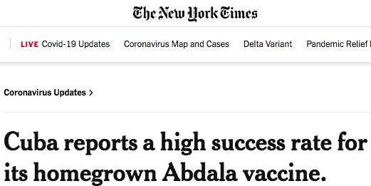 Abdala Cuban Vaccine Success