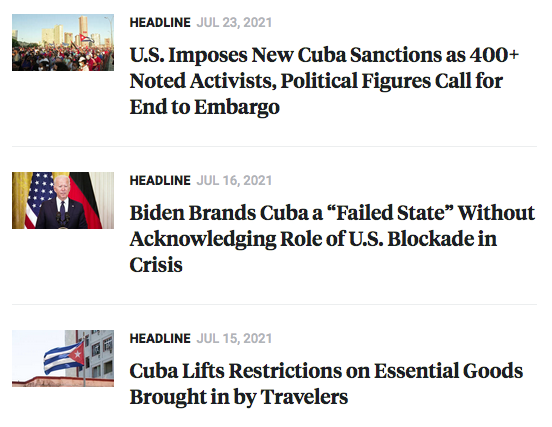 U.S. Imposes New Cuba Sanctions as 400+ Noted Activists